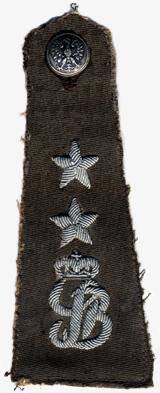 Погон поручика 81 пехотного полка им. Стефана Батория.