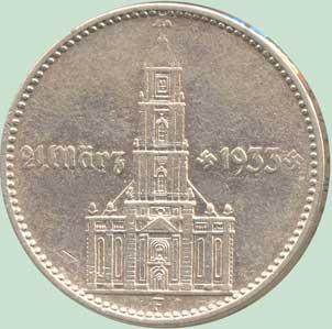 Военная кирха в г. Потсдаме, построенная Ф. Герлахом в 1735 г., по обеим сторонам от кирхи дата: 21 марта 1933 г.