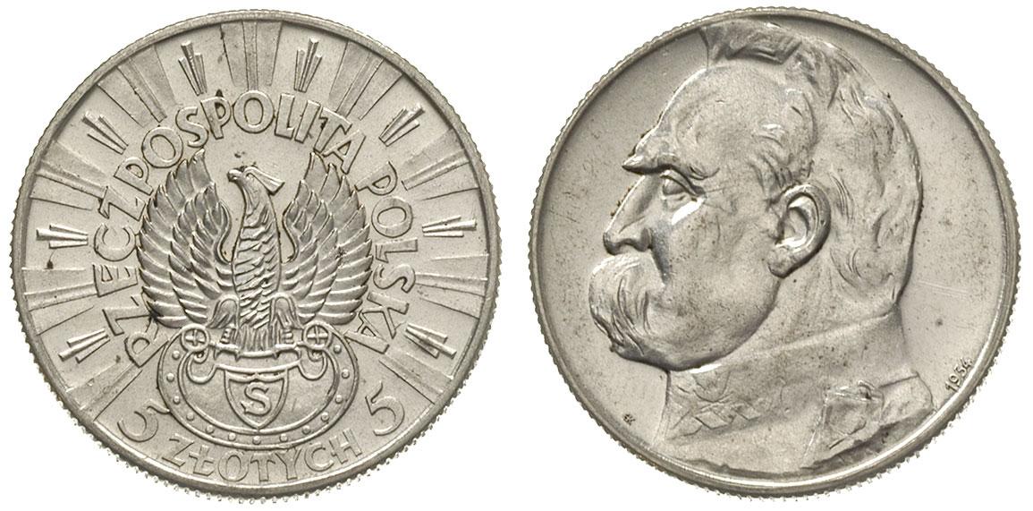 Польские монеты 5 злотых летучая мышь из 10 рублевой монеты